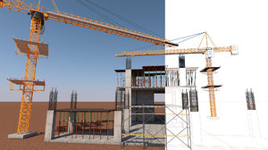 work construction site model