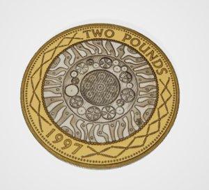 3D pound coin