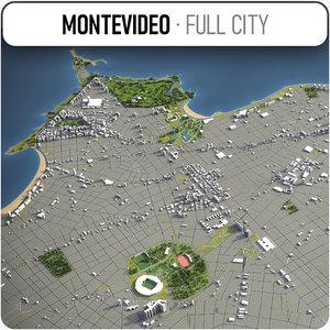 montevideo surrounding - 3D model