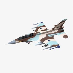 general dynamics f-16d brakeet 3D model