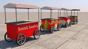 mobile vending carts 3D model