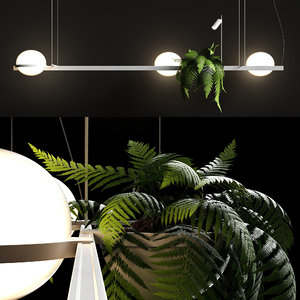 3D chandelier palma 3736