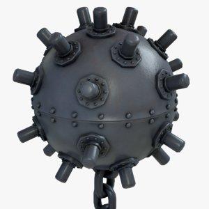 3D model underwater modular pbr