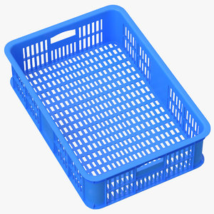 plastic crate blue 3D model