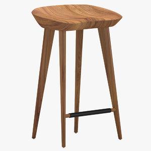 3D model tractor stool