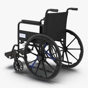 wheelchair rigged 3D