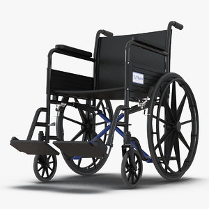 wheelchair rigged 3D model