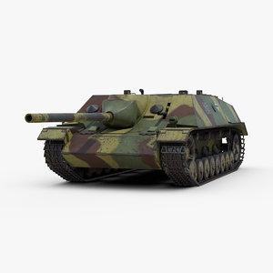 3D model ww2 sdkfz 162 jagdpanzer
