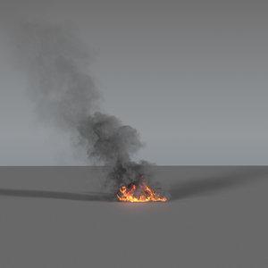 3D smoke column 02 vdb