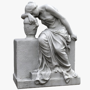 3D woman tombstone model