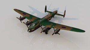 avro lancaster military airplane 3D model