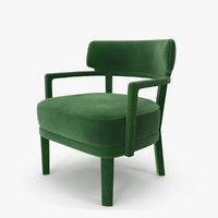 Zoe Small Armchair Green