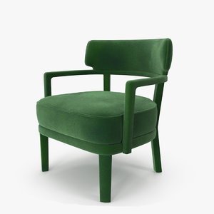 3D zoe small armchair green