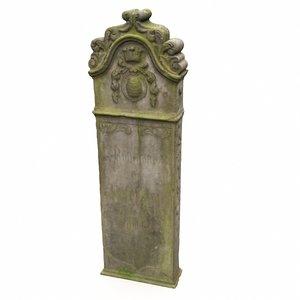3D tombstone gravestone grave