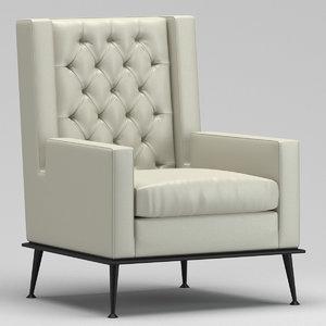 3D usonahome armchair model