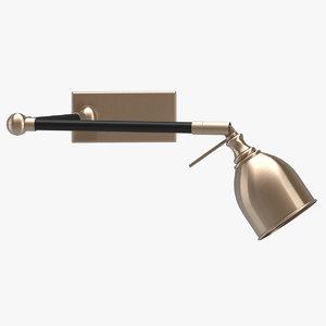 valerio swing arm wall light 3D