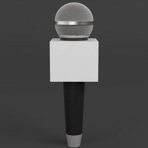 news microphone 3D