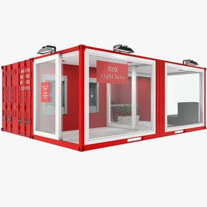 container bank 3D