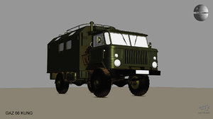 gaz 66 kung truck model