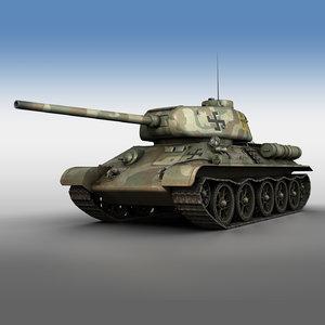 3D t-34 85 - finish model