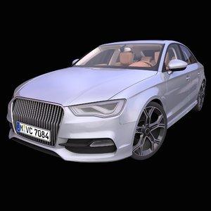 generic german sedan 2018 3D model