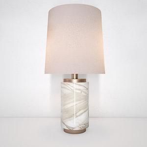 table lamp lara w 3D model