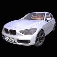 3D model generic german hatchback interior car