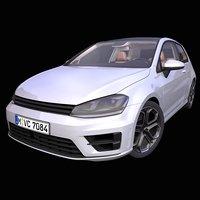 generic german hatchback 3D model