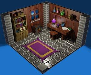3D fantasy videogame concept