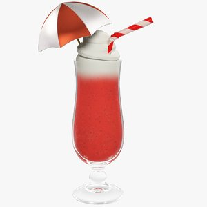 3D model cocktail smoothie beverage