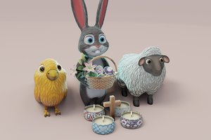 easter bunny 3D model