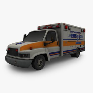 3D model ambulance ready