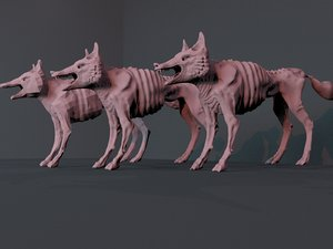 hungry fox animals 3D