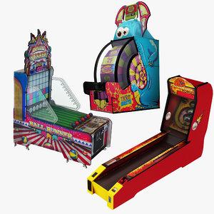 3D arcade 3 1 skeeball