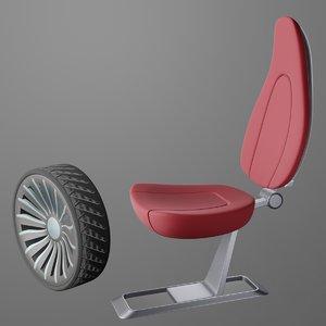 3D sports car wheel 2 model