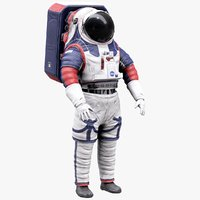 extravehicular xemu nasa spacesuits 3D model