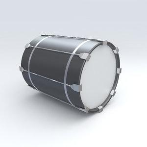 3D drum percussion music model