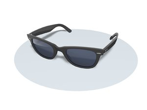 3D black sunglasses