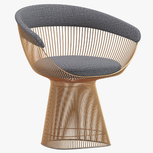 warren platner armchair 3D model