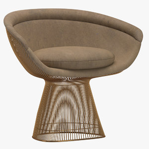 3D warren platner lounge chair model
