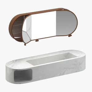 3D wash basin mirror