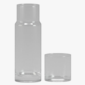 water carafe glass 3D