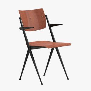 3D model wim rietveld chair