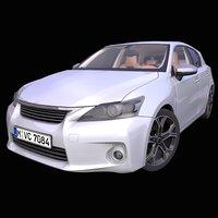 generic premium hatchback interior car 3D model
