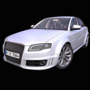 generic german sedan interior car 3D model