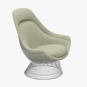 warren platner throne chair 3D model