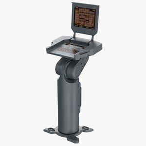 sci-fi terminal 3D model