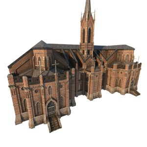 library church 01 3D model