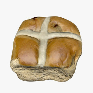 3D hot cross bun