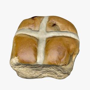 3D hot cross bun